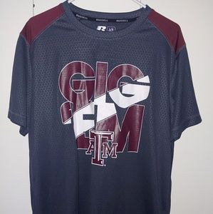 Russell athletic Texas A&M dri fit shirt size L